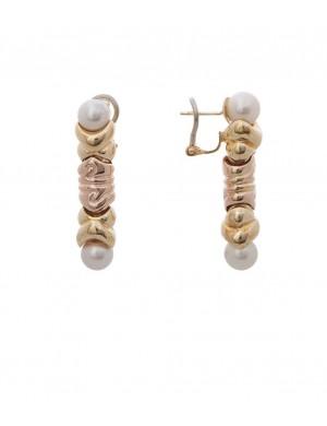 13.10 gram 18K Italian Gold Pearl Earring