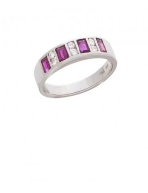 0.40ct Ruby 18K Gold Diamond Ring