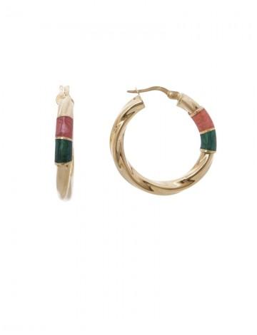 3 14 Gram 18k Italian Gold Enamel Earrings