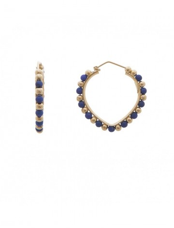 8 20 Gram 18k Italian Gold Lapis Earrings