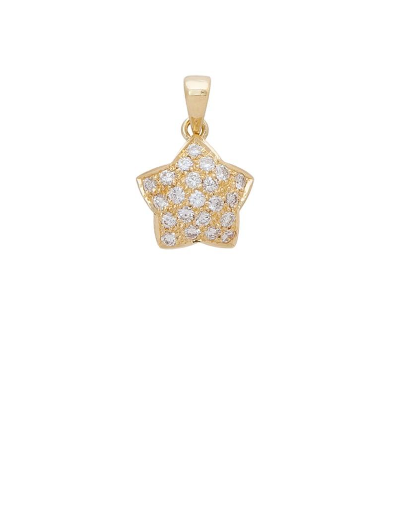 060ct diamond 18k gold star shaped pendant online jewellery 060ct diamond 18k gold star shaped pendant mozeypictures Choice Image