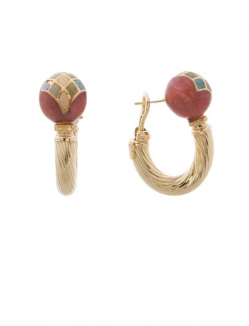 18 40 Gram 18k Italian Gold Enamel Earrings