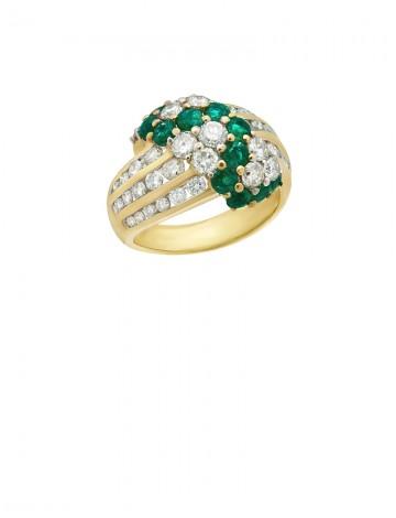 1.82ct Blue Sapphire 18K Gold Diamond Ring