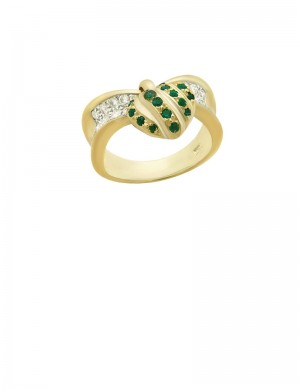 0.23ct Emerald 18K Gold Ring