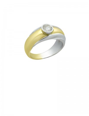 0.61ct Diamond 18K Gold Ring