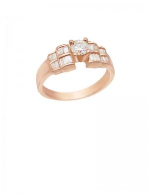 0.66ct Diamond 18K Gold Ring