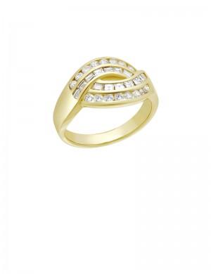 0.74ct Diamond 18K Gold Ring