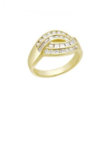 0 74ct Diamond 18K Gold Ring line Jewellery Gemstone & Diamond