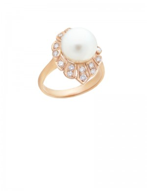 10mm South Sea Pearl 18K Gold Ring