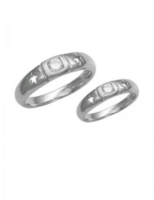 0.51ct Diamond 18K White Gold Ring Bands