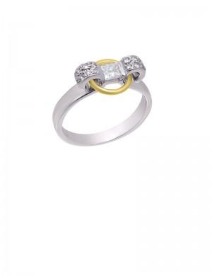 0.44ct Diamond Platinum18K Gold Ring