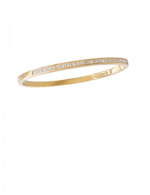 1.45ct Diamond 18K Gold Bangle