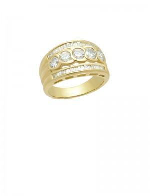 1.42ct Diamond 18K Gold Ring