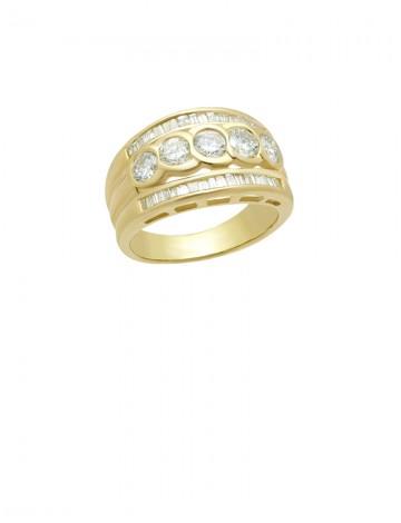 1 42ct Diamond 18K Gold Ring line Jewellery Gemstone & Diamond