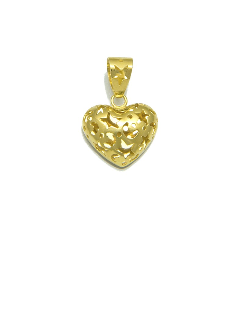 18k yellow gold heart pendant with etched die cut online jewellery 18k yellow gold heart pendant with etched die cut aloadofball Gallery