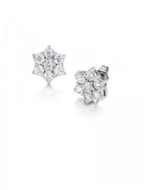 0.80ct Diamond 18K Gold Stud Earrings