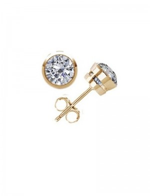 0.87ct Diamond 18K Gold Stud Earrings