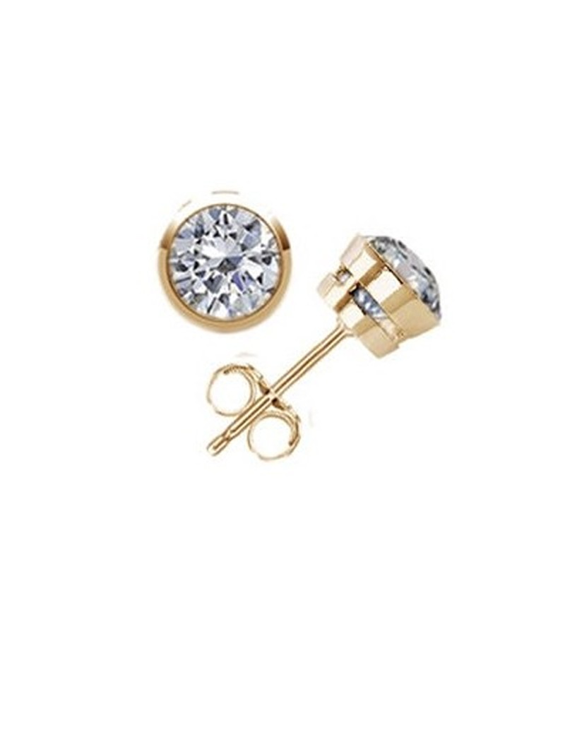 banana products sapphire top gold earrings vintage spinel stud