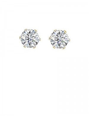 0.96ct Diamond 18K Gold Stud Earrings