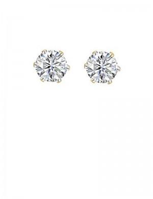 0.96ct Diamond 18K Gold Stud Earrings