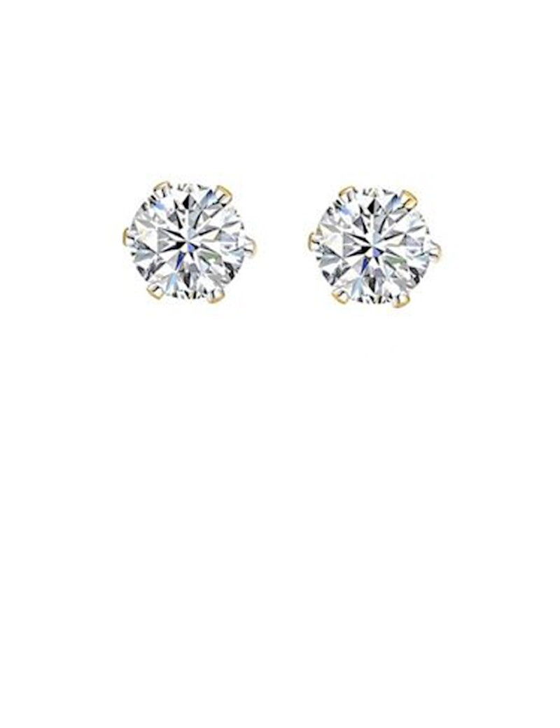 view caviar stud earrings lyst gold fullscreen lagos in metallic collection jewelry