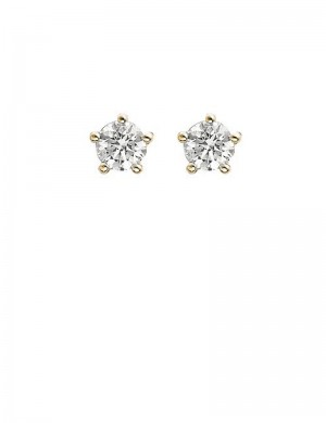 0.41ct Diamond 18K Gold Stud Earrings
