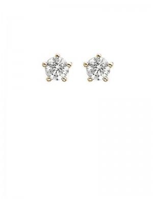 0.41ct Diamond 18K Gold Stud Earrings