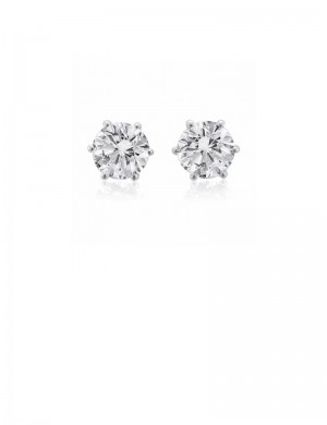 0.56ct Diamond 18K Gold Stud Earrings