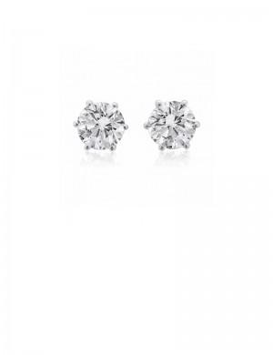 0.56ct Diamond 18K Gold Stud Earrings