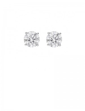 0.57ct Diamond Platinum Stud Earrings