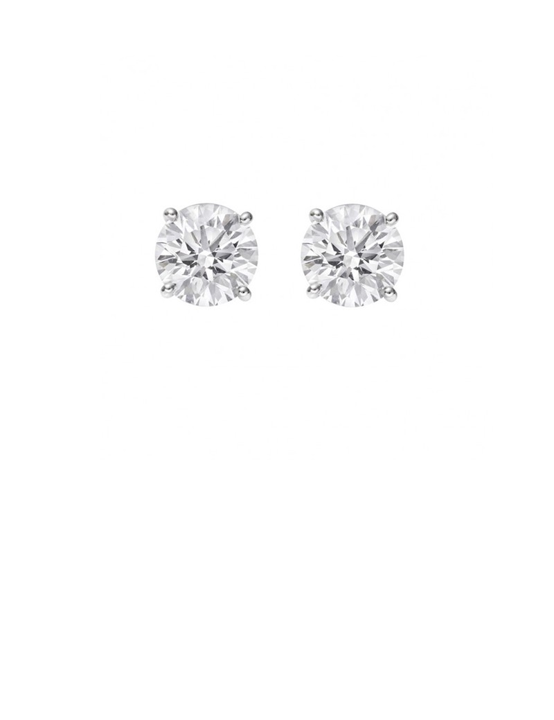 platinum circle cz online look vorra product white fashion jewellery earrings new silver plated buy