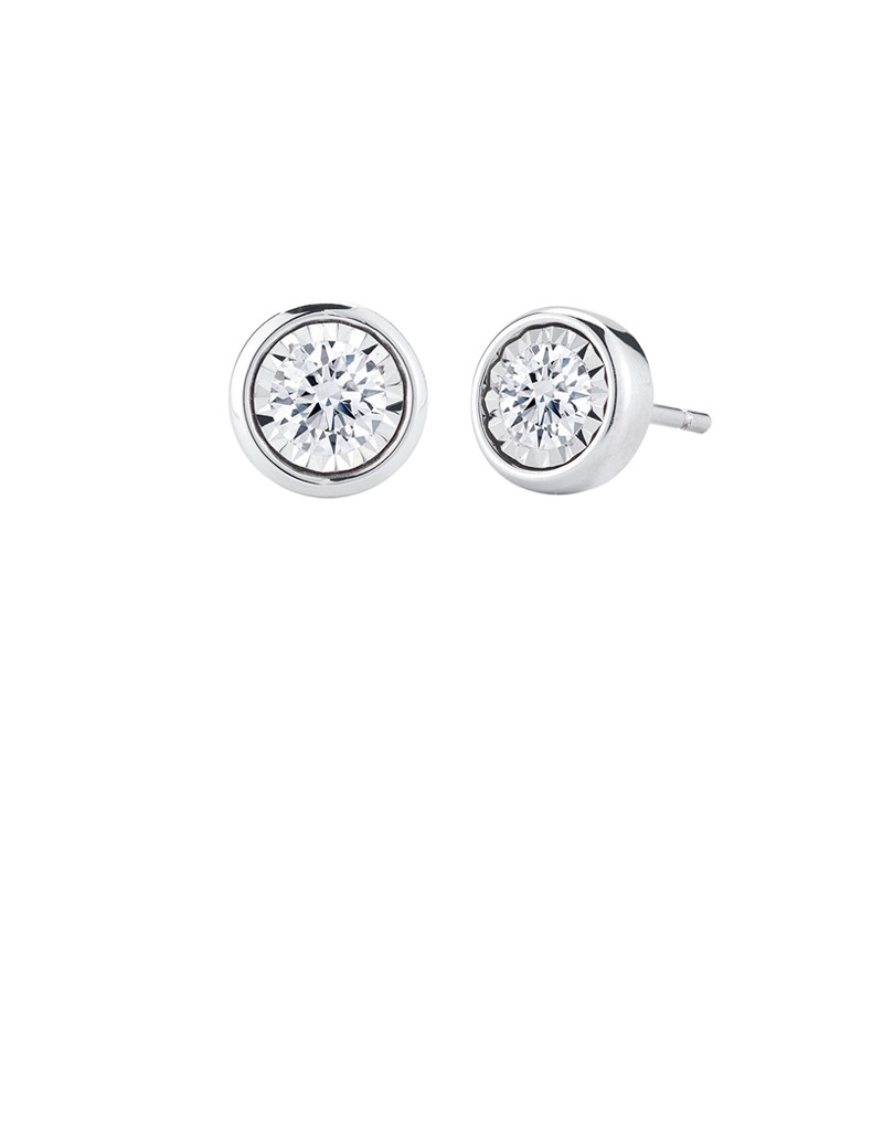 b delicati yellow earrings pave small products delicatidiamondstudearrings stud gold diamond