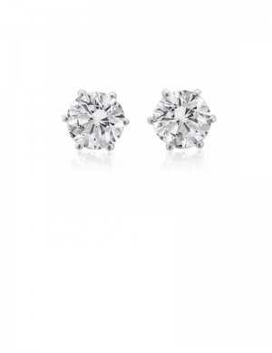 1.51ct Diamond 18K Gold Stud Earrings