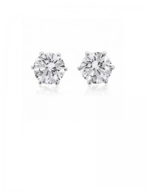 1.29ct Diamond 18K Gold Stud Earrings