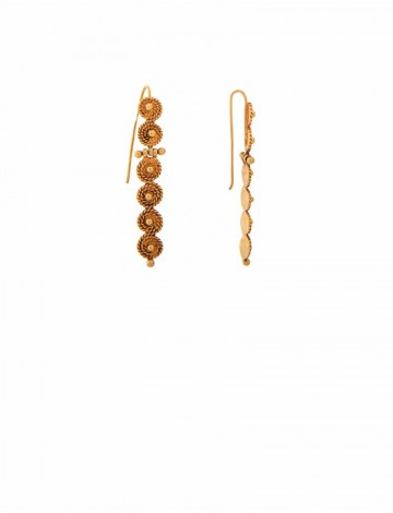 6 90 Gram 18k Italian Gold Earrings