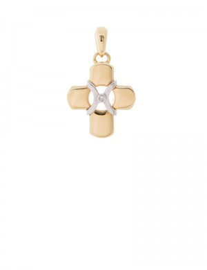 9.19gram 18K Italian Gold Cross pendant