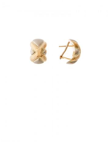 6 22gm 18k Italian Gold Earrings