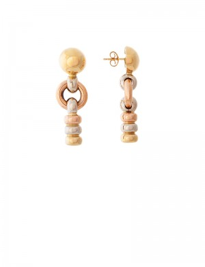 12.70gm 18K Italian Gold Earrings