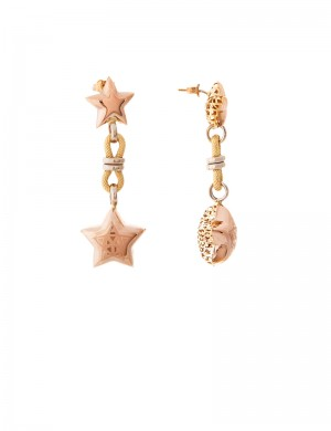 9.80gm 18K Italian Gold Earrings