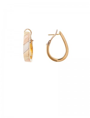 9.70gm 18K Italian Gold Earrings