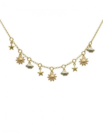 980 gram 18k gold charms necklace online jewellery gemstone 18k yellow gold necklace mozeypictures Gallery
