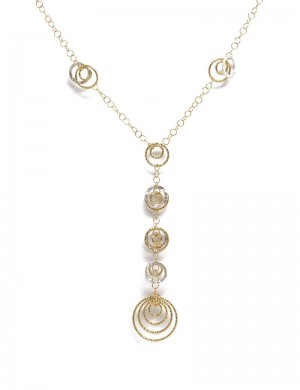 9.26gram 18K White & Yellow Gold Necklace