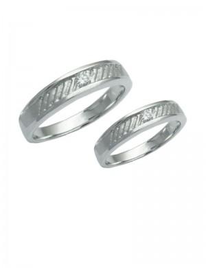 0.16ct Diamond 18K White Gold Ring Bands