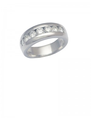 0.75ct Diamond 18K White Gold Ring