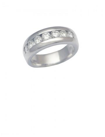 0.75ct Diamond 18K White Gold Ring