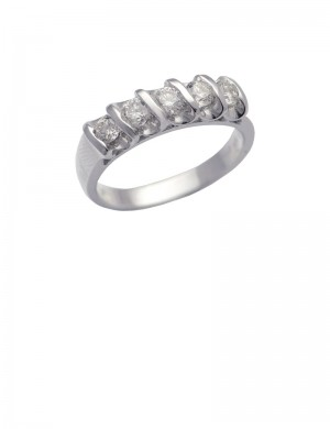 0.56ct Diamond 18K White Gold Ring