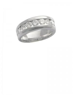 1.11ct Diamond 18K White Gold Ring