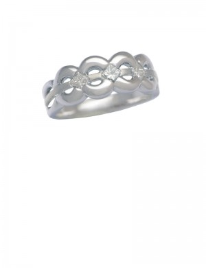 0.30ct Diamond 18K White Gold Ring