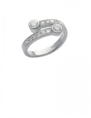 0.52ct Diamond 18K White Gold Ring