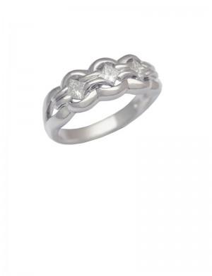 0.50ct Diamond 18K White Gold Ring